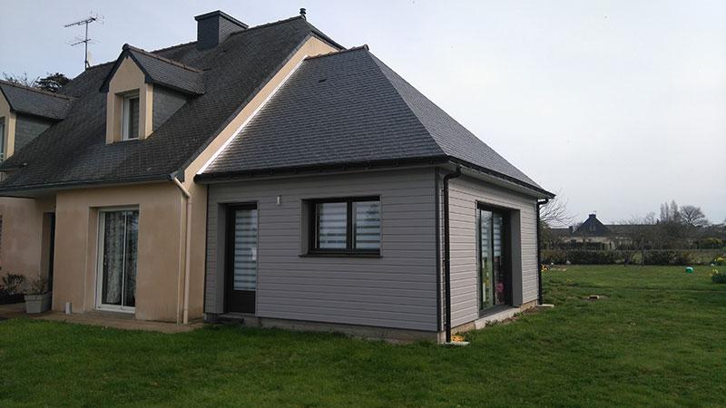 Maison ossature bois nos r alisations sarl hervy - Extension maison ossature bois ...